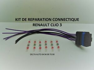 KIT DE RÉPARATION FAISCEAU FEU ARRIÈRE PORTE LAMPES RENAULT CLIO 3 COMPLET NEUF