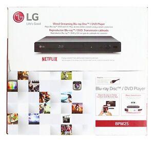LG Wired Streaming Blue-ray Disc DVD CD Player BPM25 Black