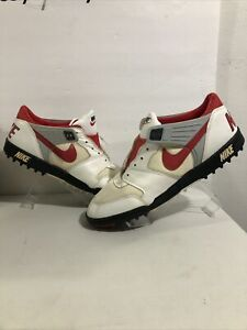 Vintage 80's Nike Pro Football Turf Cleats Red White 890203FT1 Sz 13