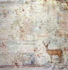 Rice paper -Sweet Christmas Moose- for Decoupage Scrapbooking Sheet
