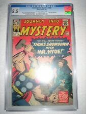 JOURNEY INTO MYSTERY # 100 CGC 5.5 OW/WH - 100th ANNIVERSARY ISSUE! MR. HYDE!!!!