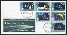 1986 The Gambia Scott #650-655 FDC - Halley's Comet Overprinted Set of 6