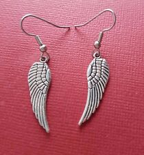 Angel Wing Earrings New Charms wings silver plated drop dangle jewellery