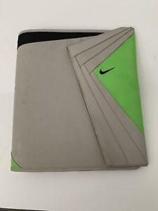 Vtg 90's Nike Mead Binder Trapper Keeper 3 Ring Organizer Gray Green Air Max 95