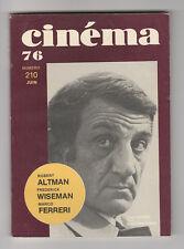 CINEMA 76 N° 210 LINO VENTURA ROBERT ALTMAN WISEMAN FERRERI DAVID BOWIE