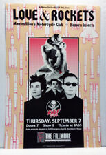 LOVE & ROCKETS @ FILLMORE SF/1989 NEVER ROLLED/CONCERT POSTER/KUSF BENEFIT
