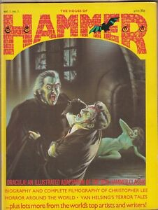 HAMMER THE HOUSE OF HAMMER Vol 1 No 1 = OCTOBER 1976 = DRACULA CHRISTOPHER LEE =
