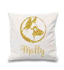 Custom Dog Name Pillow German Shepherd Throw Gold Pillow With Dogs Name Glitter