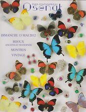 BIJOUX ANCIENS ET MODERNES MONTRES CATALOGUE OSENAT vente 13/05/2012