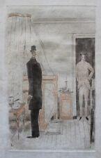 Jean-Emile LABOUREUR Eau-forte originale 1929 Epreuve unique sur Parchemin GIDE