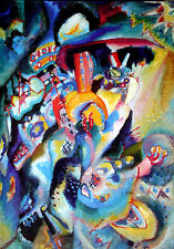 Wassily Kandinsky•MOSCA II 1916•Russian Abstract Color Poster O/P 19x27 Italy