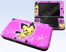 Nintendo 3DS XL Skin Vinyl Decal Sticker - Pokemon Pichu #2 Pink