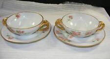 Vintage Kokura China Cream Soup Bowl w Underplate 2 set
