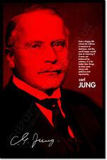 Carl Jung ARTE FOTO STAMPA POSTER Regalo Uomo e i suoi simboli