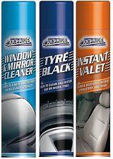 3 Pack Car-Pride Window Mirror Cleaner, Tyre Black, Instant Valet   1 of Each  