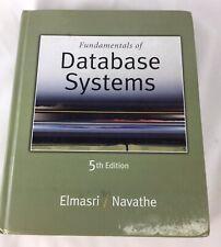 Fundamentals of Database Systems 5th Edition Elmasri Navathe 190818CWE/BA