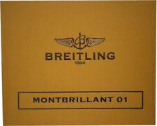 Libro Reloj Breitling Montbrillant 01 Folleto de instrucciones MANUAL guía