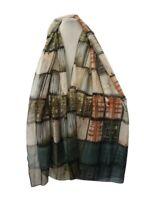 Sciarpa donna estiva foulard grande stola scialle pashmina scaldacollo da verde