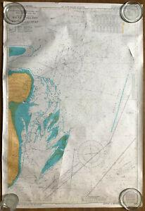 Vintage sea chart England South East Coast - South Foreland to South Falls Head