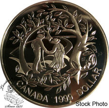 Canada 1999 $1 International Year of Older Persons Proof Silver Dollar Coin