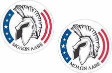 "2 - 4"" Molon Labe Decal 2nd Amendment Gun Rights Spartan Sticker nra come take"