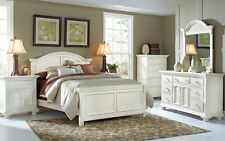 Cottage Traditions Queen White 6 pc Bedroom Furniture Set 2 NightStands & Chest