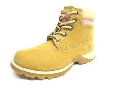 Chaussures beige à lacets en cuir pour fille de 2 à 16 ans