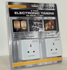 2 x Digital Timer Timer Plugs  24 Hour Multi On / Off New