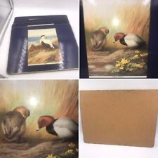 Vintage Set Of 4 Archibald Thorburn Wild Birds Large Placemats Rectangular