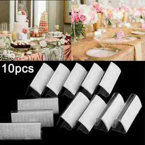 10Pcs Camping Picnic Party Plastic Tablecloth Cover Skirt Clips Holder Clamp
