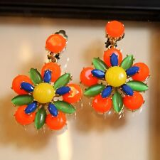 Rings`Ears Clip Pendant Gross Flower Yellow Coral Marriage Gift AA 10
