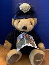 "Harrod's Knightsbridge Police Bear Bobby 12"" Sitting Plush Teddy London Cop"