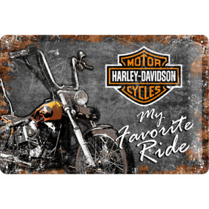 Nostalgic Type Harley Davidson My Favorite Ride Tin Sign 20 x 30