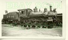 8D044 RP 1930s/40s MOPAC MISSOURI PACIFIC RAILROAD 4-6-0 LOCO #2736