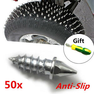 50Pcs ATV Car Motorcycle SUV Tire Spike Stud Thorn Screw Anti-slip Snow Ice Nail