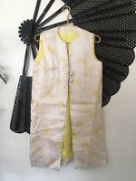 Vintage 60s Brocade Duster Vest Medium/Large