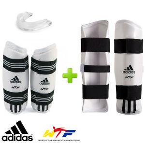 New! adidas Taekwondo WTF Competition Sparring Gear Set w/ Mouthguard