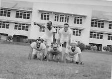 VINTAGE PHOTO #VP70 1940'S 4 MILITARY MEN - NAVY SEABEES C.B.'S HAVING FUN
