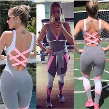 Leggings de mujer una sola pieza ropa deportiva suave gimnasio Yoga mono Casual