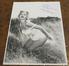 Judy Bamber pin up model actress signed autographed photo Bucket of Blood