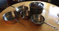 SET 6 Piece Vintage Williams Sonoma France Mauviel Cookware Copper Pots Pans