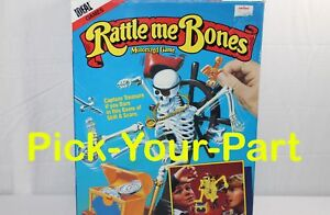 Replacement Parts Pieces Rattle Me Bones Game 1989 Ideal YOUR CHOICE