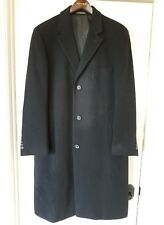 Men's Lauren  RALPH  LAUREN 100% Cashmere Black Winter Overcoat Coat 38R 51711