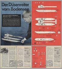 Bauplan Rennboot LUPINO mit Strahltriebwerk Pulso-Triebwerk - Original von 1963