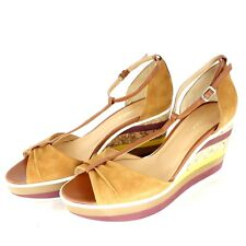 Alberto Zago Ladies Shoes Sandals Court Wedges Leather Colourful Size 41 Np 179