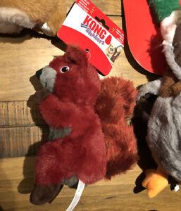 Genuine KONG Shakers Red Squirrel Size Medium/Large Plush Dog Toy