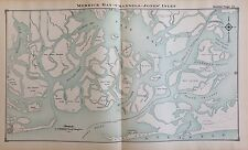 1914 ATLAS MAP MERRICK BAY CHANNELS JONES INLET NASSAU COUNTY LONG ISLAND NY