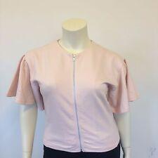 Asos Ladies Biutterfly Sleeved Light Pink Casual Zip Front Top Jacket UK Size 12