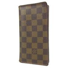Auth LOUIS VUITTON N61823 Damier Porte Valeurs Cartes Credit Bifold Wallet 1924