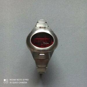 Pulsar LED Armbanduhr Damen Digitaluhr 70 - 80 er Jahre